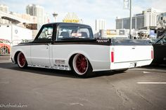 Speedtech's '67 Chevy C10 shop truck is powered by a 525HP LS3 and rides on Speedtech's ExtReme C10 chassis and suspension, Viking double adjustable coilovers, Baer Brakes, Michelin Pilot Super Sport tires, and Forgeline GT3C Concave wheels finished with Transparent Red centers & Super Wet White outers. See more at: http://www.forgeline.com/customer_gallery_view.php?cvk=1553  #Forgeline #GT3C #notjustanotherprettywheel #madeinUSA #Chevrolet #Chevy #C10 #SEMA2015