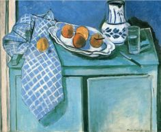 Henri Matisse, Still Life with Green Buffet, oil on canvas, 1925 http://paintwatercolorcreate.blogspot.com/2014/07/fruit-paintings.html
