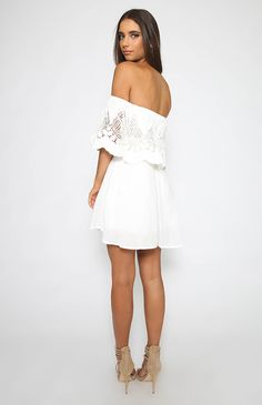 All The Matters Dress - White
