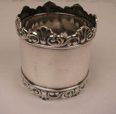 Antique Shreve Sterling Napkin Ring c. 1880 - Antique Shreve Sterling Napkin Ring c. 1880