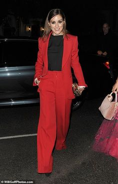 Chic: The fashionista strutted her stuff in chic pointed black heels and styled her brunette tresses slick and straight Olivia Palermo Lookbook, Olivia Palermo Style, Combat Boot Outfits, Discount Womens Clothing, British Fashion Awards, Fashion Quotes, Classic Outfits, British Style, Ladies Dress Design