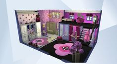 Check out this room in The Sims 4 Gallery! - #NOCC #MOO #TALLWALLS #PLAYTESTED BED, COUCH, AND TV ALL WORK!!! IT'S SO COOL. YOU GOT TO CHECK THIS OUT PLEASE DOWNLOAD AND TICK THE ♥ IF YOU LIKE♥HAPPYSIMMING♥#pink #purple #white #girl #bedroom #bathroom #closet #chess #pc #desk #Ornate #Beauty#Storage#Chest #princess #pretty#bookshelf #KOALEIGH
