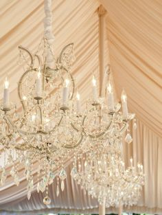 How gorgeous are these crystal chandeliers?!