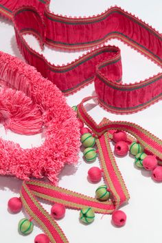 Lilly Pulitzer for Lee Jofa pink trim