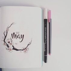 #bulletjournal #bujo #bulletjournalpolska #bulletjournaljunkies #may #sakura #cherryblossom Here it is. A new month. Last one was kind of neglected due to going home and back, getting sick and Easter. Also the overall layout felt too heavy. It needed a bit of light and freshness. So this time : sakura . Let's hope I won't screw it up XD.