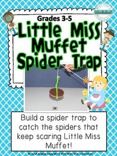 Nursery Rhyme STEM: Little Miss Muffet Spider Trap Nursery Rhymes Kindergarten, Kindergarten Stem, Beginning Of Kindergarten, Rhyming Preschool, Rhyming Activities, Stem Activities, Simple Machine Projects, Nursery Rhyme Theme