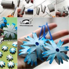 This is another craft for Christmas ornament. Recycle paper rolls, you can make Snowflakes. Snowflakes for colouring that you can easily use for Christmas decoration. You just need empty toilet paper rolls, scissors, glue, and paints . Check the below...
