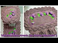 Trabalhos Feitos Através das Minhas VideoAulas 5 - YouTube Crochet Crafts, Crochet Projects, Crochet Rugs, Crochet Videos, Crochet Designs, Diy And Crafts, Crochet Necklace, Lily, Sewing