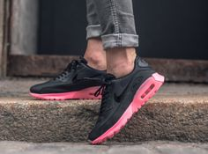 The women s version of the Nike Air Max 90 Ultra is rendered in  black digital pink for summer Find it at Nike stores overseas first. eccd68d07
