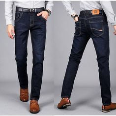 Lightweight Stretch Jeans Men Denim Summer light Blue Jeans Black Blue Jean Fashion