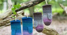 Sticka och tova: Enkel beskrivning till fina vantar | Allas.se Wind Chimes, Knitting, Outdoor Decor, Sewing, Threading, Handarbeit, Dressmaking, Tricot, Couture