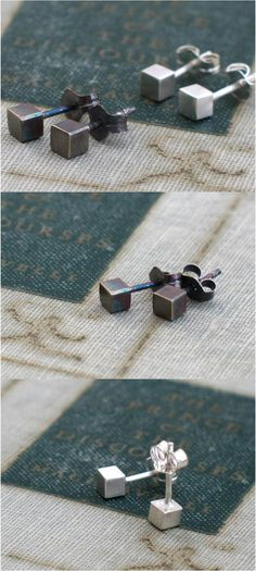 Small unassuming geometric studs, perfect for stylish and simple everyday wear. | Made by people who care on Hatch.co