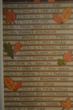 Fall fun board