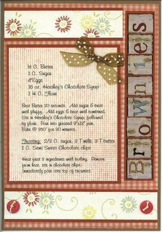7 Sample Recipe Pages from Recipe Album - Two Peas in a Bucket