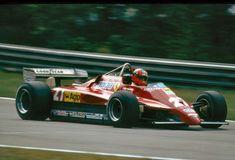 Gilles Villeneuve beim Abschlußtraining zum Großen Preis von Belgien, Ferrari 126 C2