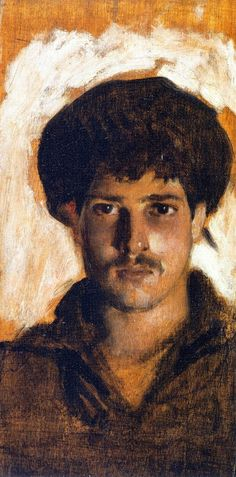 1878 Head of a Young Man (aka Portrait of a Sailor) oil on panel 22.3 x 12.2 cm Private Collection