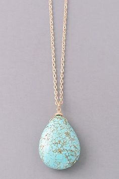 Gem Of A Natural Stone Necklace