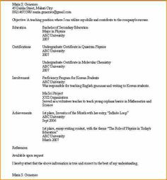 Sample Resume Free Resumes Easyjob Best Formats Samples Format