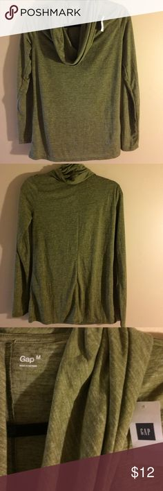 NWT GAP cowl neck shirt size medium 70% polyester 30% rayon olive green slightly burn out material. Smoke free home. Bundle to  save more. GAP Tops Tunics
