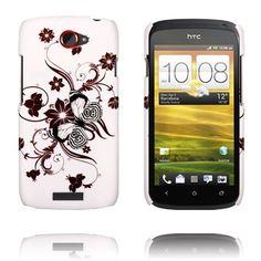 Valentine (Ruskea Spiraali Kukat) HTC One S Suojakuori Htc One, Spiral, Brown, Cover, Flowers, Florals, Blankets, Chocolates, Flower