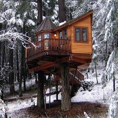 A magnificent and whimsical treehouse!