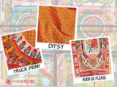 From ditsy prints to Horn Ok Please, Our Truck art collection is full of cultural prints. Explore more of Truck Art designs in our stores. #SS15 #TruckArt #FreeSpirit