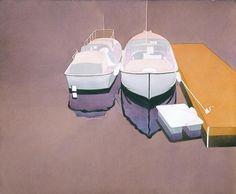 Mark Adams (1925-2006), Boats at Dock.