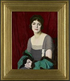 "Twentieth Century British Art by William Strang: ""The Green Cloak, Portrait of the actress Miss Barbara Horder, Best Portraits, Victorian Art, Cloak, The Twenties, Oil On Canvas, Full Meaning, Modern Art, British, Actresses"