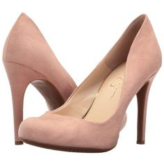 Jessica Simpson Calie (Nude Blush Microsuede) High Heels ($49) ❤ liked on Polyvore featuring shoes, pumps, slip on shoes, slip on pumps, nude platform shoes, slip-on shoes and fleece-lined shoes