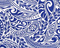 Hawaiian Tapa Fabric, Red Gold Tribal Polynesian Tattoo, DIY Craft Sewing Fabric…