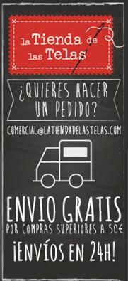 Si lo prefieres, ¡¡puedes #aprovechar también nuestras #promociones cómodamente #desde tu #casa!! www.latiendadelastelas.com