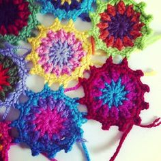 Join as you go.  Scrap yarn  project