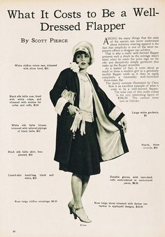 undercovershelf:  What It Costs to Be a Well-Dressed Flapper…..$346.50 in 1926!