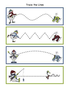 Preschool Printables: Snow Friends Printable 2