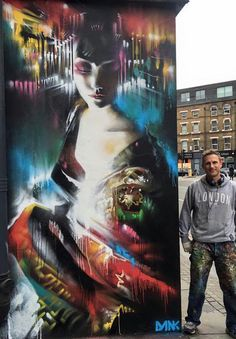 Street art by Dan Kitchener Best Street Art, Amazing Street Art, Awesome Art, Murals Street Art, Street Art Graffiti, Creative Artwork, Cool Artwork, Unusual Art, Unique Art