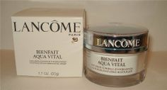 Lancome Bienfait Aqua Vital Continuous Infusing Moisturizer Cream 1.7 oz / 50 g Normal to Dry Skin by Lancome. $54.50. New in Box. Lancome Bienfait Aqua Vital Continuous Infusing Moisturizer Cream. **No U.S. Sale Tax** 1.7 oz / 50 g Normal to Dry Skin. Lancome Bienfait Aqua Vital Continuous Infusing Moisturizer Cream Infuses skin with moisture and leaves it with a glow. It absorbs instantly and hydrates skin for 24 hours. Oil-free gel-cream texture goes on ligh...