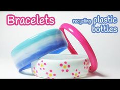 Don't throw your old plastic bottles, make bracelets! (video tutorial) is part of DIY crafts Bracelets - DIY crafts Bracelets recycling plastic bottles In this video, you will learn how to make bracelets recycling plastic bottles It's very Water Bottle Crafts, Plastic Bottle Crafts, Recycle Plastic Bottles, Water Bottles, Soda Bottles, Crafts To Sell, Fun Crafts, Melted Plastic, Operation Christmas Child