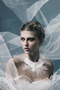 Glass feathers necklace by Marion Parfait shot by D.Fitt