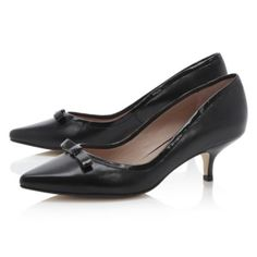 dune kitten heel court shoe