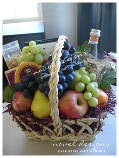 Lite & Fruity Gift Basket, A Healthy Alternative to Traditional Gift Baskets. #Fruit #Basket - noveldesignsllc.com