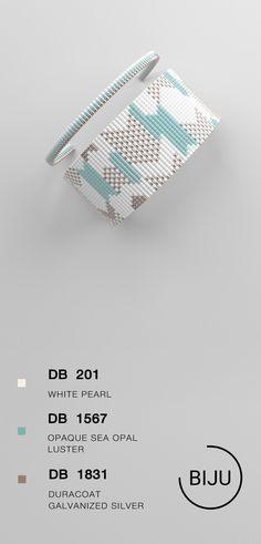US$4.72 Loom bracelet pattern, loom pattern, miyuki pattern, square stitch pattern, pdf file, pdf pattern, cuff #66BIJU