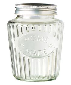 Another great find on #zulily! Glass 'Homemade' Large Canister - Set of Two #zulilyfinds