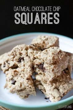 VeganFling: Oatmeal Chocolate Chip Squares