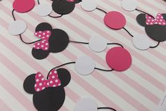 Minnie Mouse Garland- make out of poster board or cardstock.