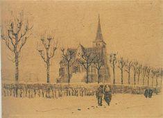 Vincent van Gogh: Landscape with a Church  Nuenen: December, 1883 (Amsterdam, Van Gogh Museum)