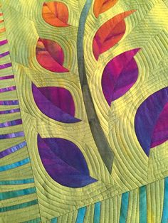 Quilt by Frieda Anderson, guest on Quilting Arts TV Series 1700. #QATV Blue Moon River
