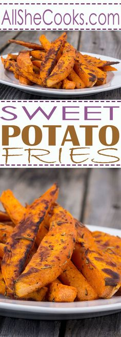 Easy Sweet Potato Fries are a great side dish to serve with burgers, sandwiches and your favorite grilled meat.