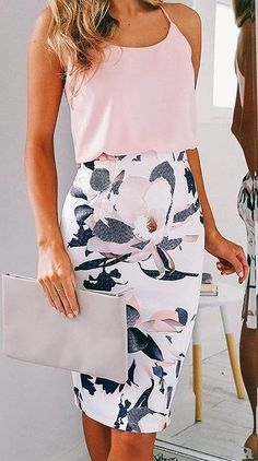 0c2f897b9 #summer #showpo #label #outfits | Blush + White Floral Summer Outfits Women