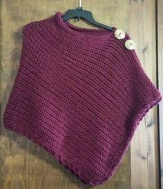 Preferito Poncho Loom maglia modello di DaynaScolesDesigns