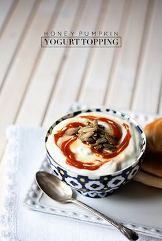 Looking for a fun new way to top your morning yogurt? Try this HONEY PUMPKIN yogurt topping! #topittuesday